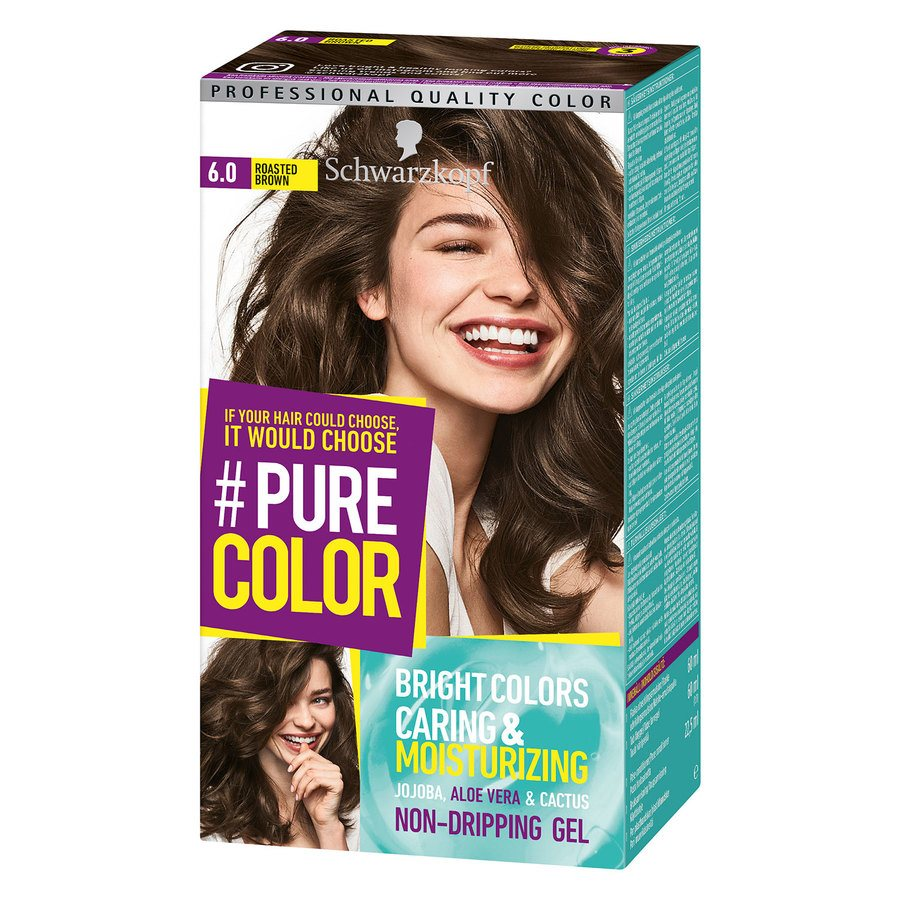 Schwarzkopf Pure Color 6.0 Roasted Brown 142 g