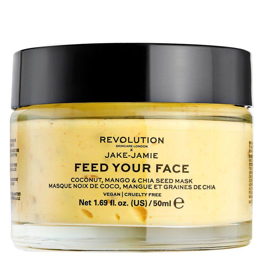 Revolution Skincare x Jake - Jamie Coconut, Mango & Chia Seed Radiant Glow Face Mask 50 ml