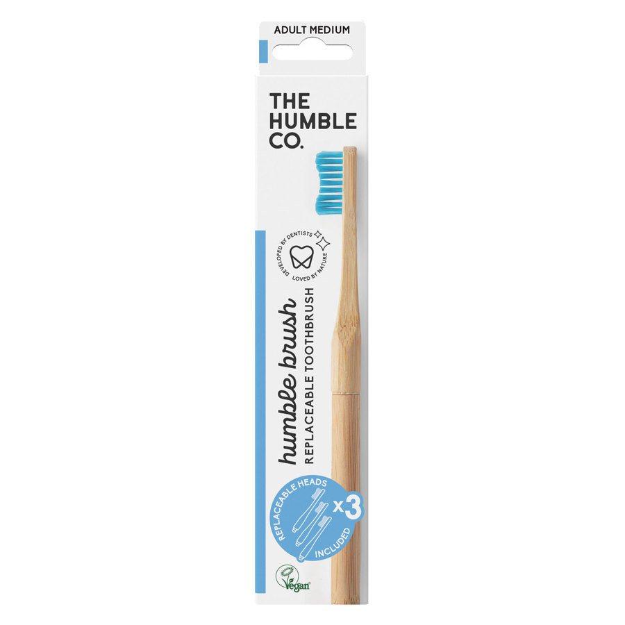 The Humble Co Humble Brush Interchangeable Head Blue Medium