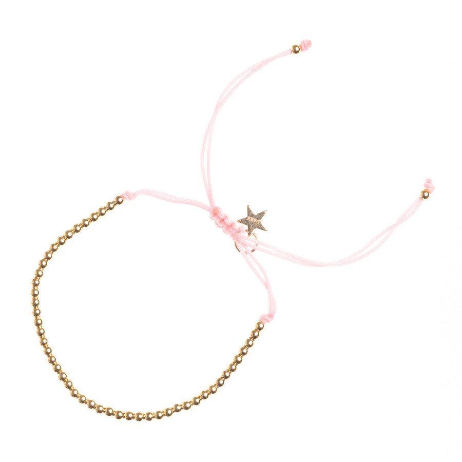 DARK Metal Bead Bracelet Thin Blush Rose