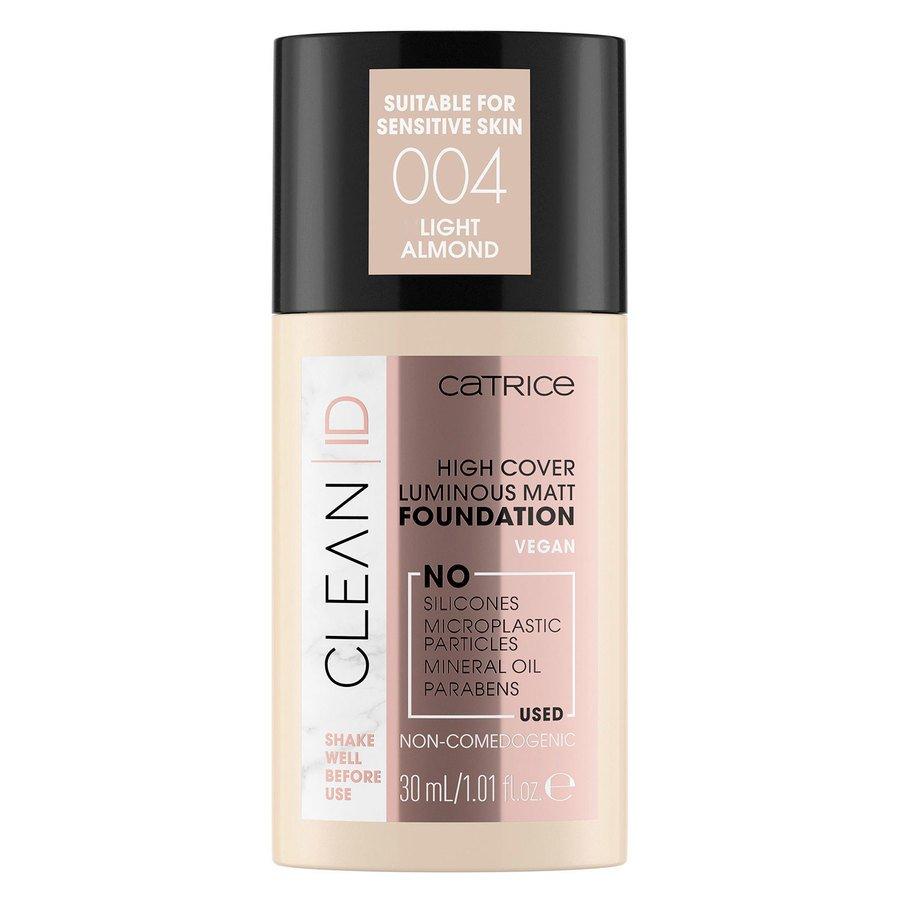 Catrice Clean ID High Cover Luminous Matt Foundation 004 Light Almond 30 ml