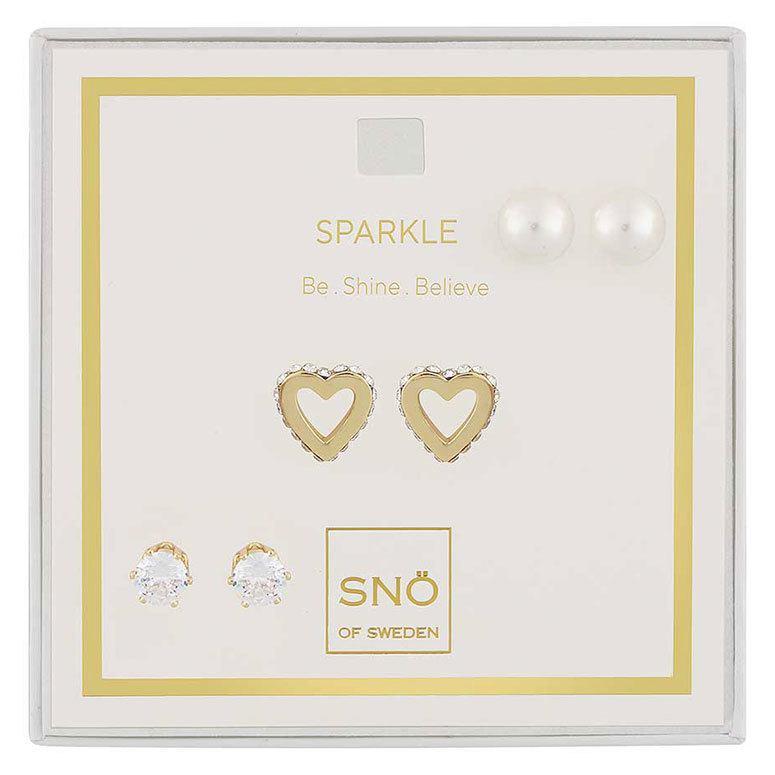 Snö of Sweden Valentine Sparkle örhängen Gold/Clear