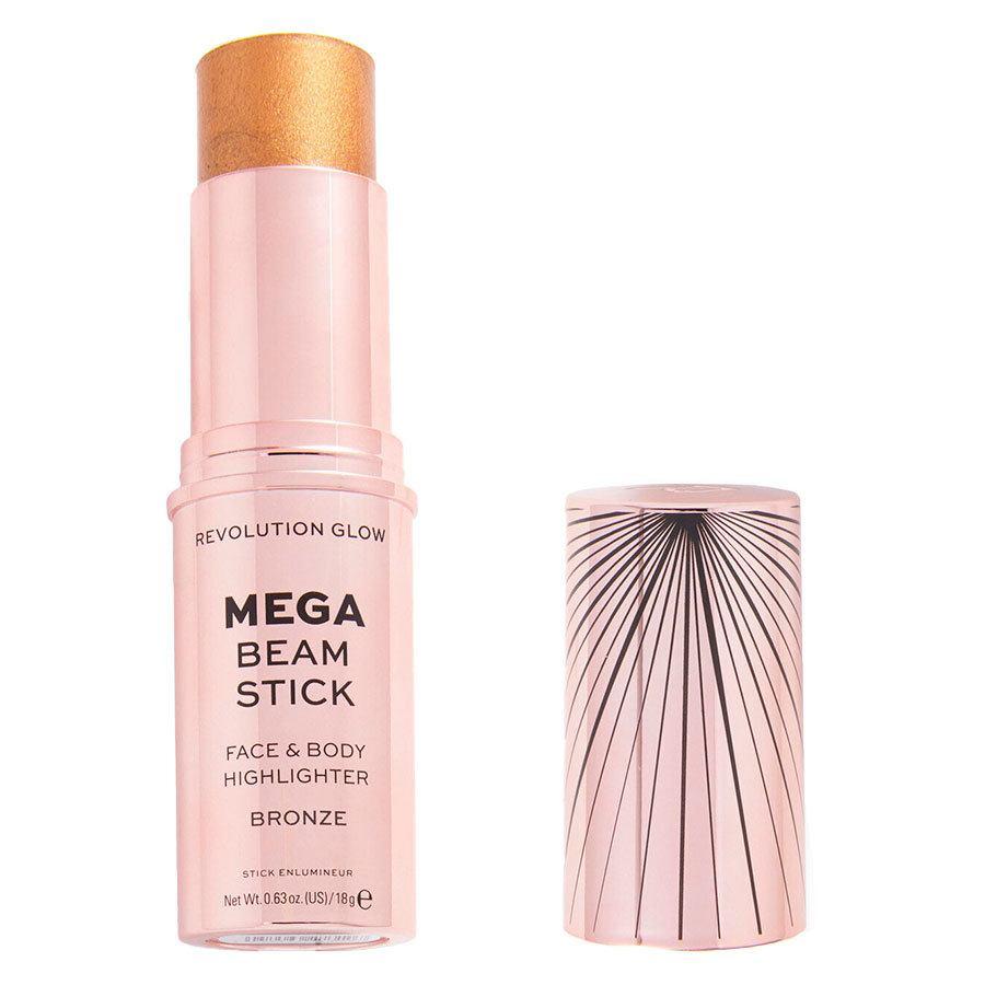 Makeup Revolution Glow Mega Beam Stick Face & Body Highlighter Bronze 18 g