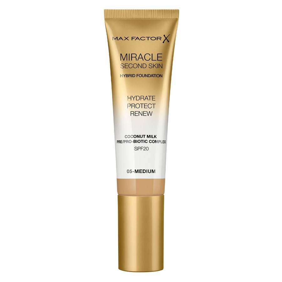 Max Factor Miracle Second Skin Foundation - #005 Medium 33ml