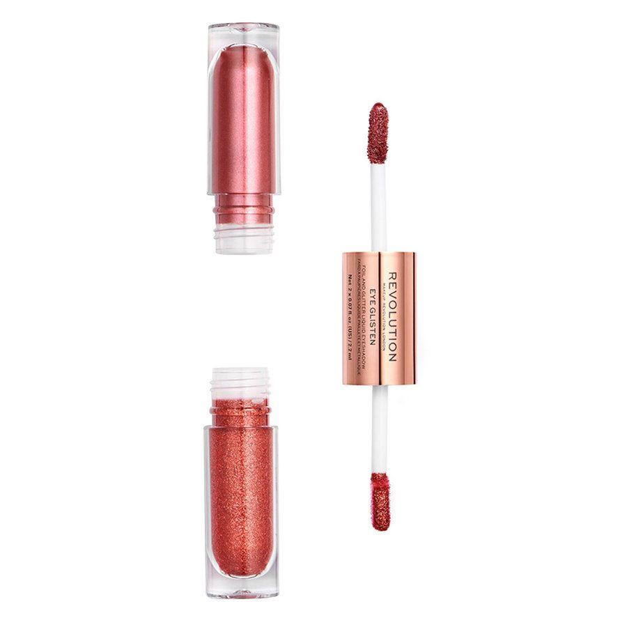 Makeup Revolution Eye Glisten Foil And Glitter Liquid Eyeshadow Desired 2x2,2 ml