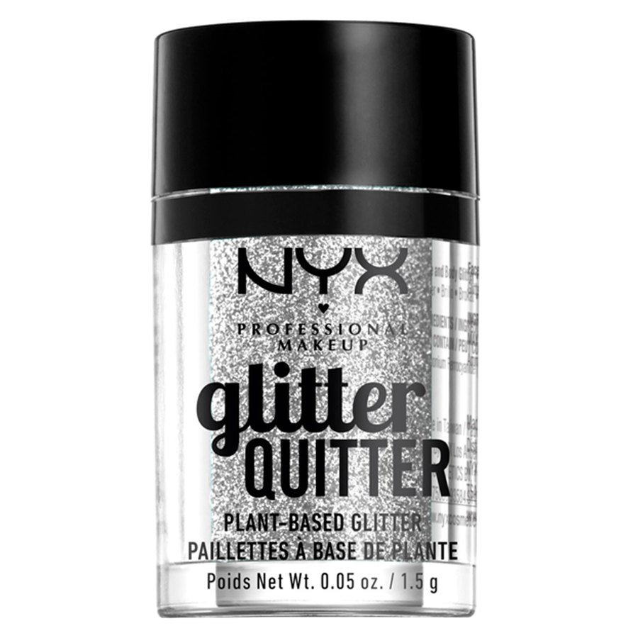 NYX Professional Makeup Glitter Quitter Plant Based Glitter Silver 1,5 g