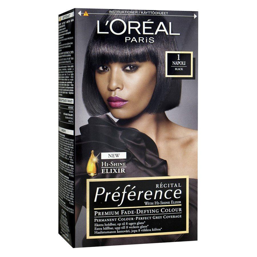 L'Oréal Paris Récital Préférence 1 Svart Napoli