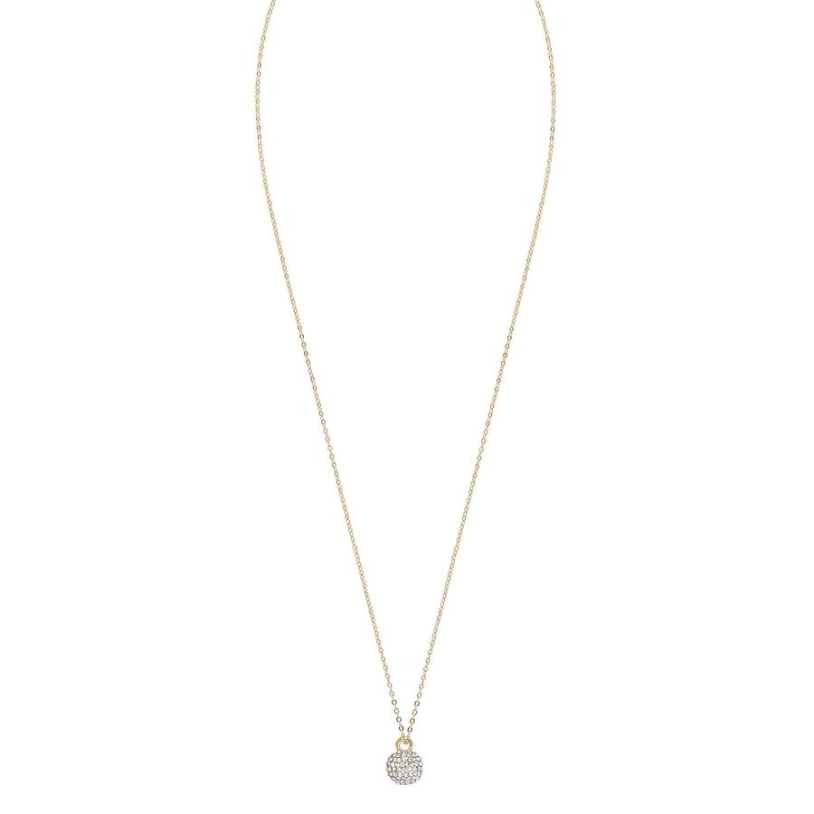 Snö of Sweden Zin Small Pendant Neck 40 Gold/Clear