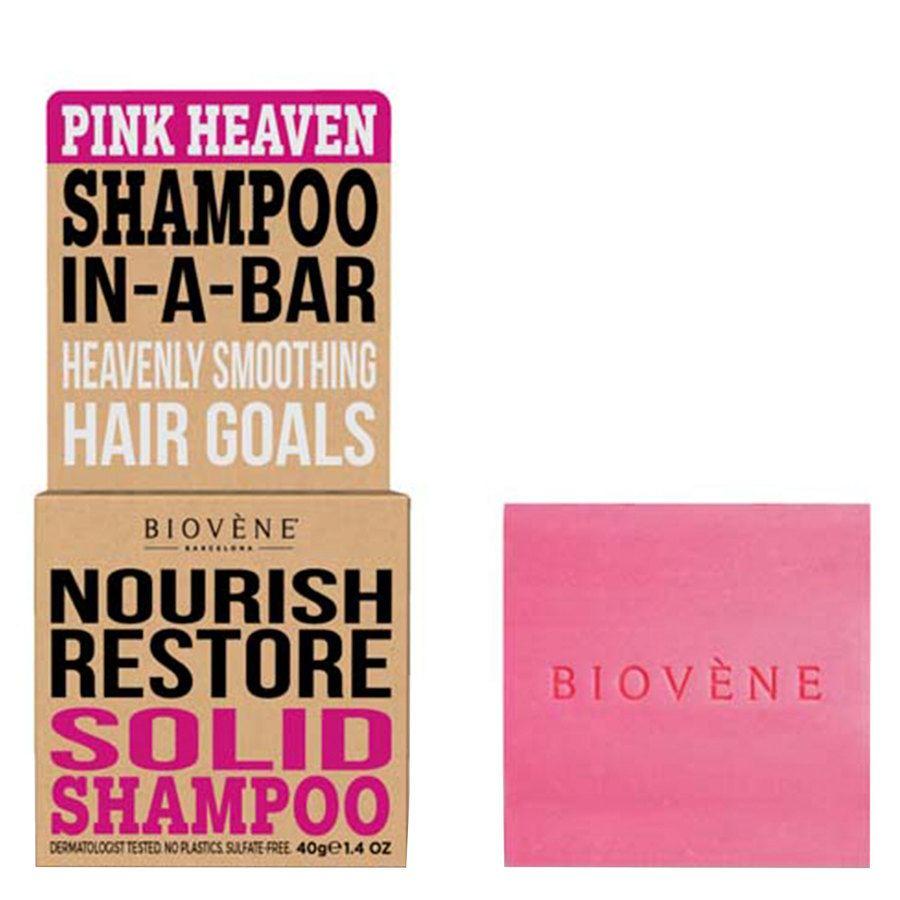 Biovène Hair Care Shampoo Bar Nourish Restore Pink Heaven 40 g