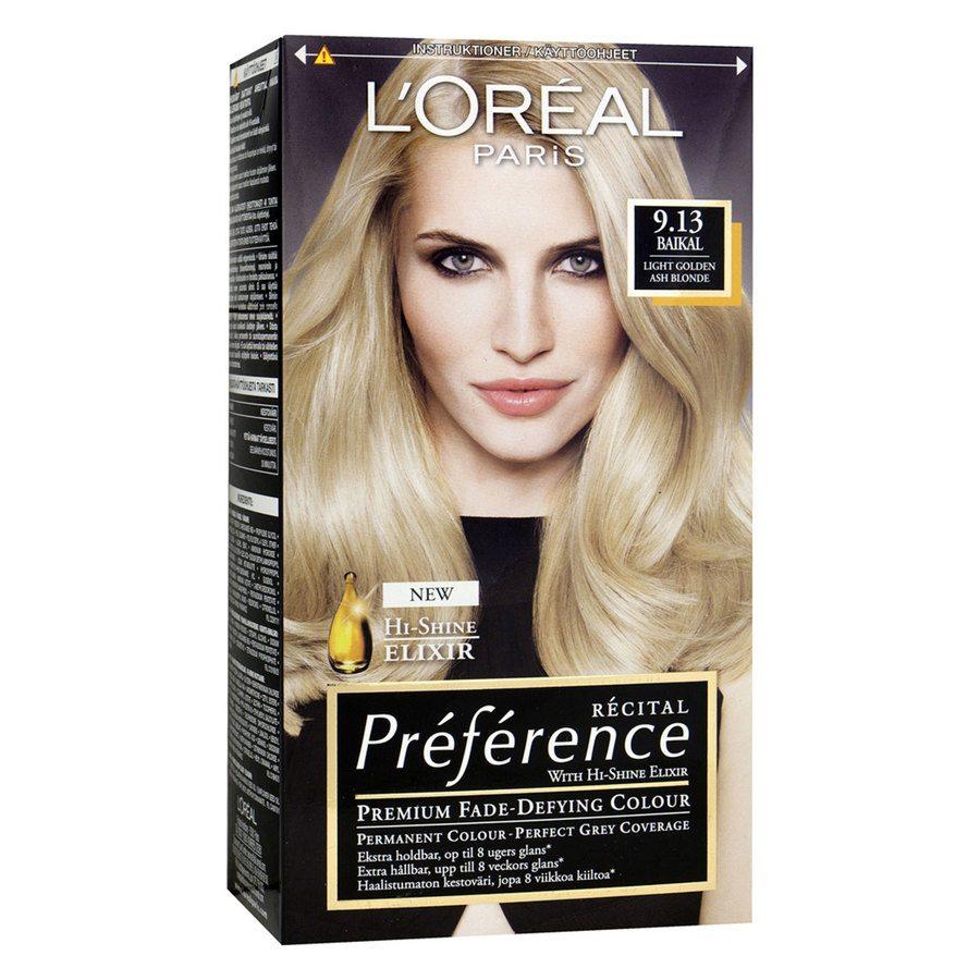 L'Oréal Paris Préférence Core Récital 9,13 Manhattan Light Golden Ash Blonde