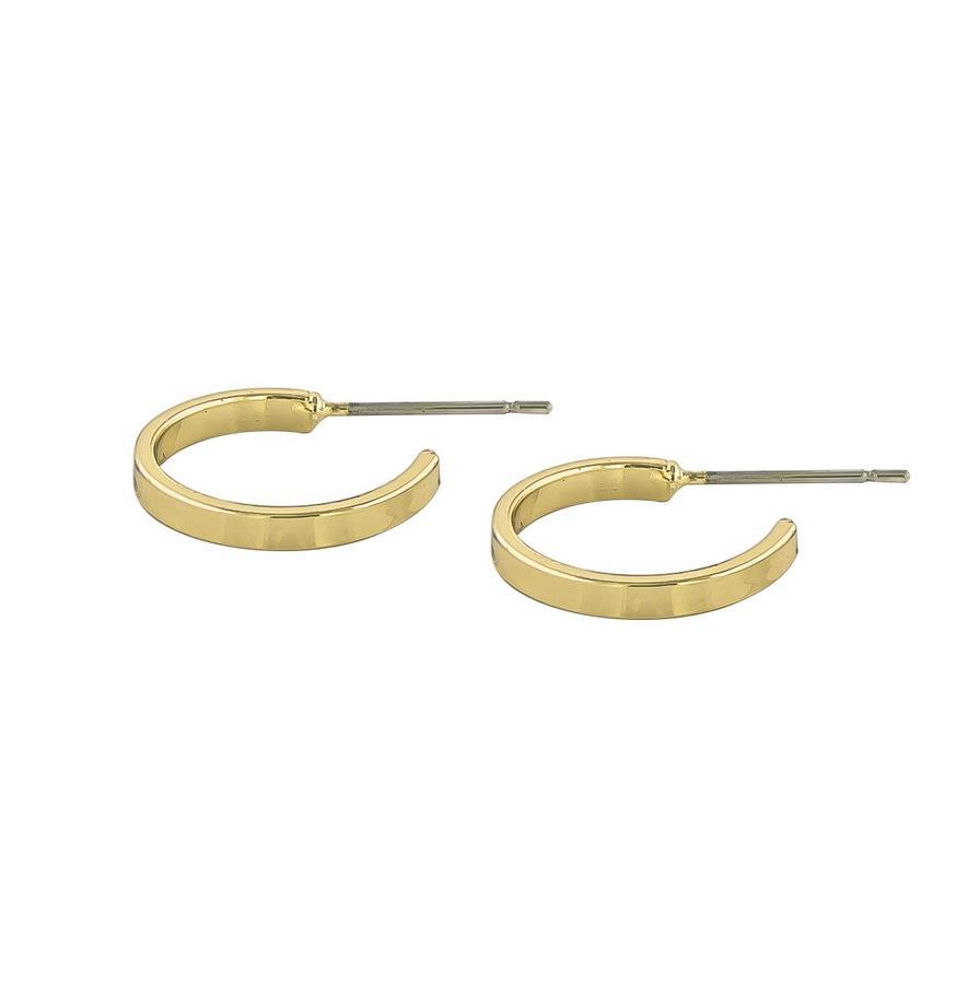 Snö Of Sweden-Moe Ring Earring Plain Gold 15mm