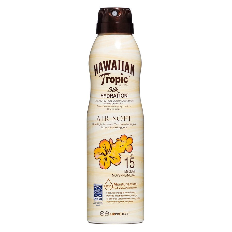 Hawaiian Tropic Air Soft Dry Oil Continuous Spray SPF15 177ml