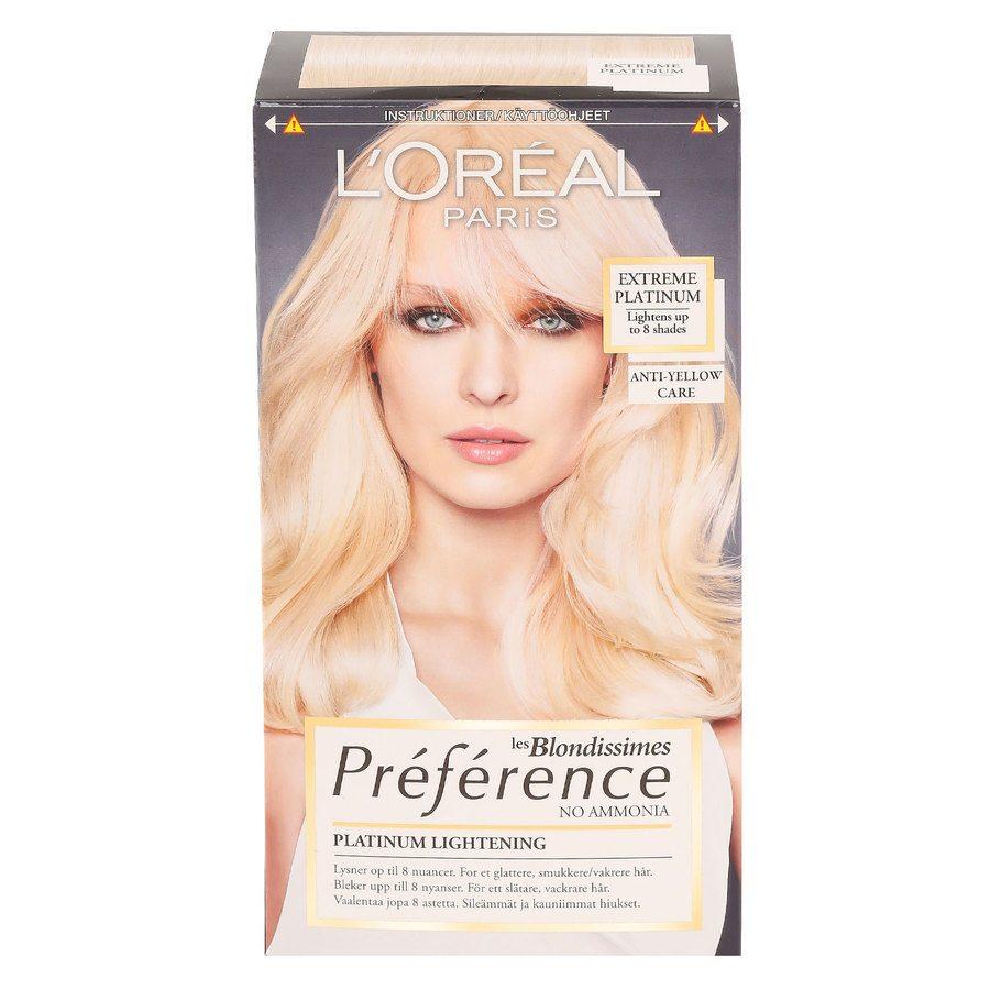 L'Oréal Paris Préférence Core Récital Les Blondissimes Extreme Platinum
