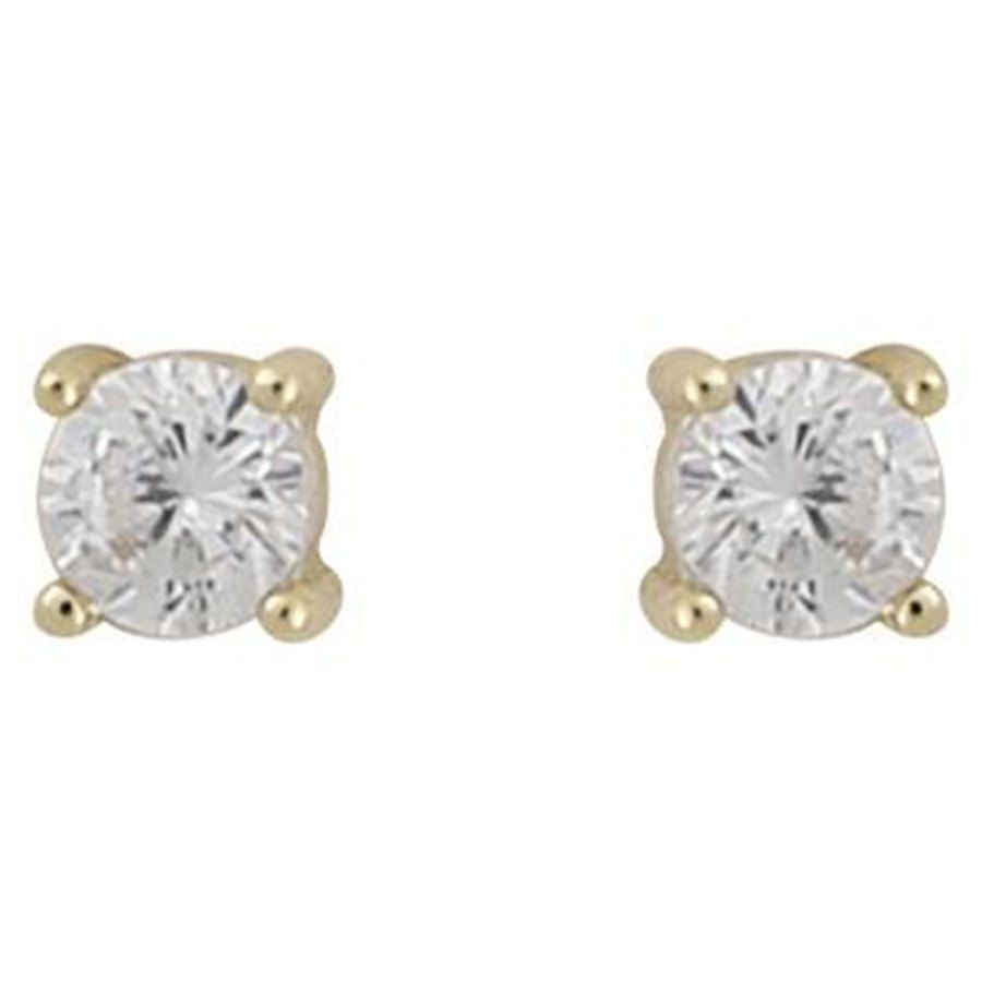 Snö of Sweden Camille Small Stone Earring Gold/Clear