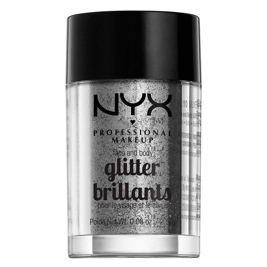 NYX Professional Makeup Face And Body Glitter Brilliants Silver GLI10 2,5 g
