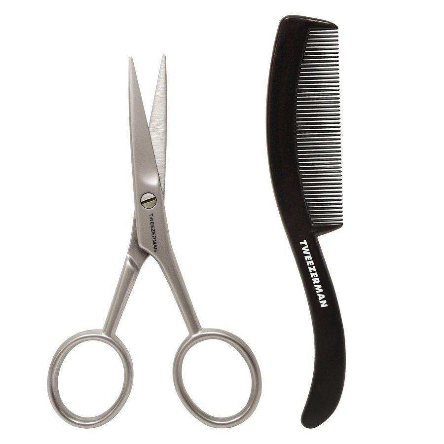 Tweezerman Gear Moustache Scissors And Comb