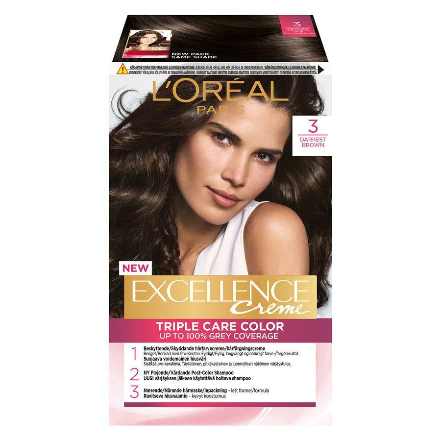 L'Oréal Paris Excellence Creme 3 Mörkbrun