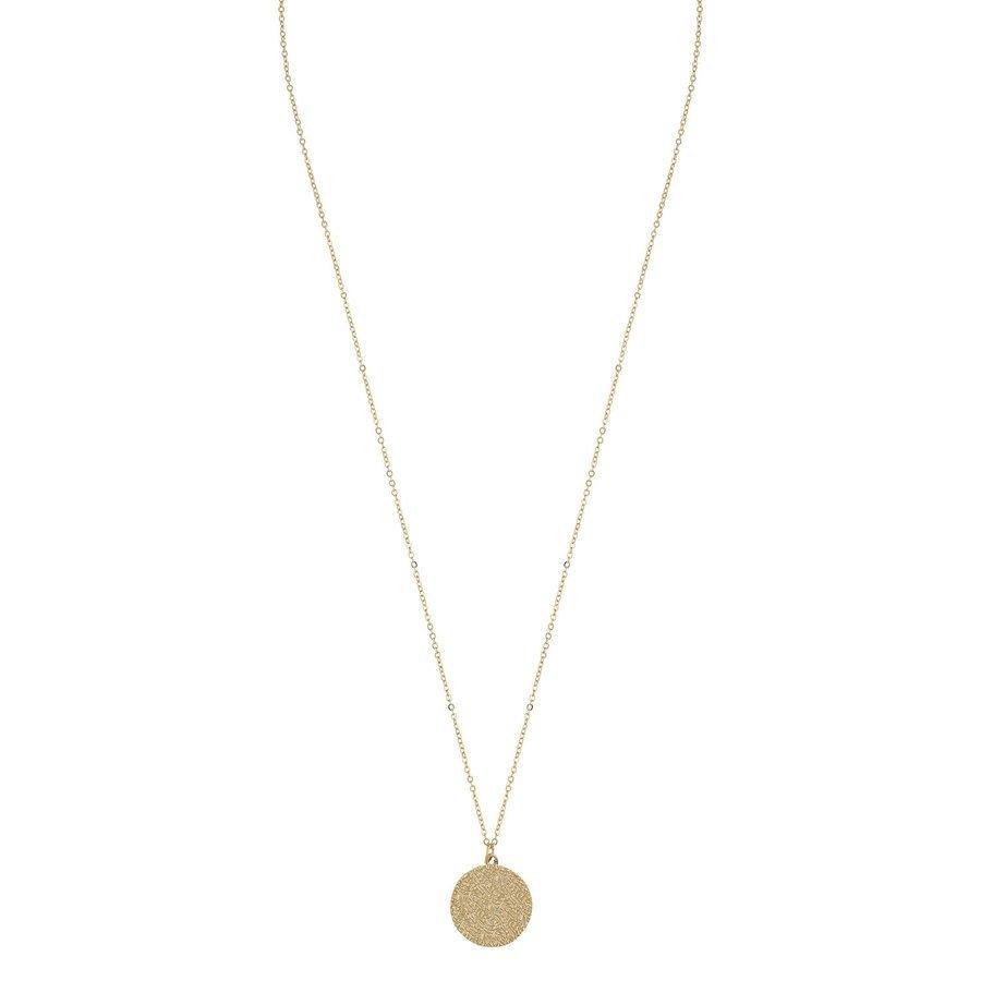 Snö of Sweden Penny Coin Pendant Necklace Plain Gold 60 cm