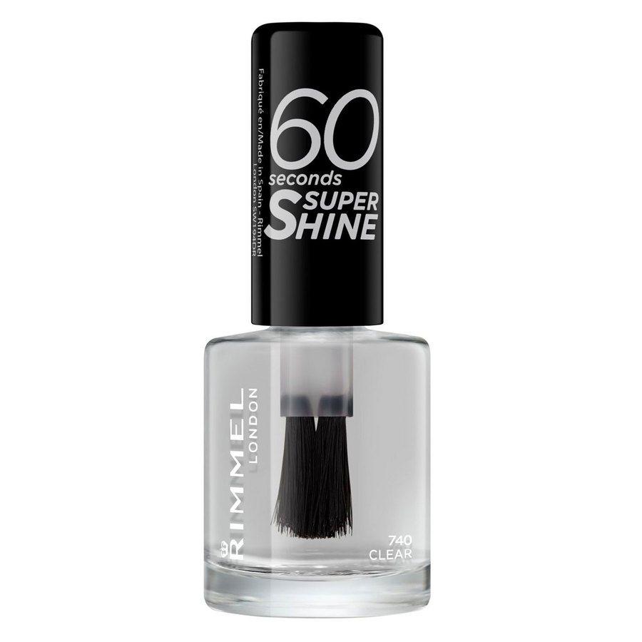 Rimmel London 60 Seconds Super Shine Nail Polish #740 Clear 8ml