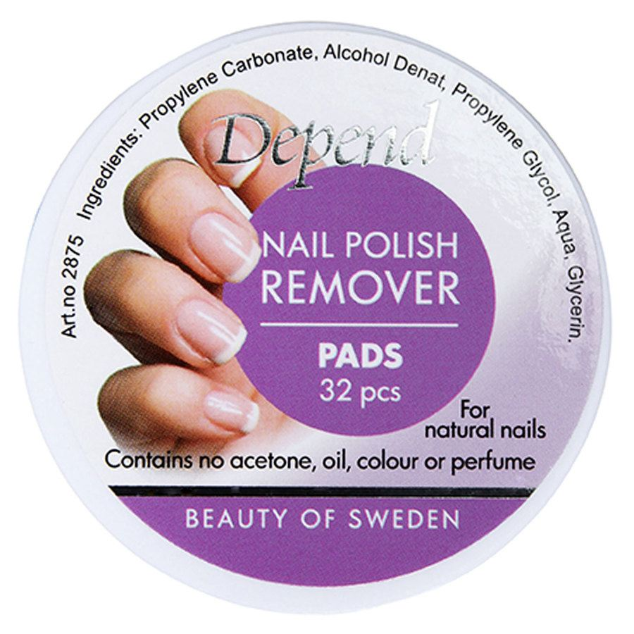 Depend Nail Polish Remover Pads 32 st