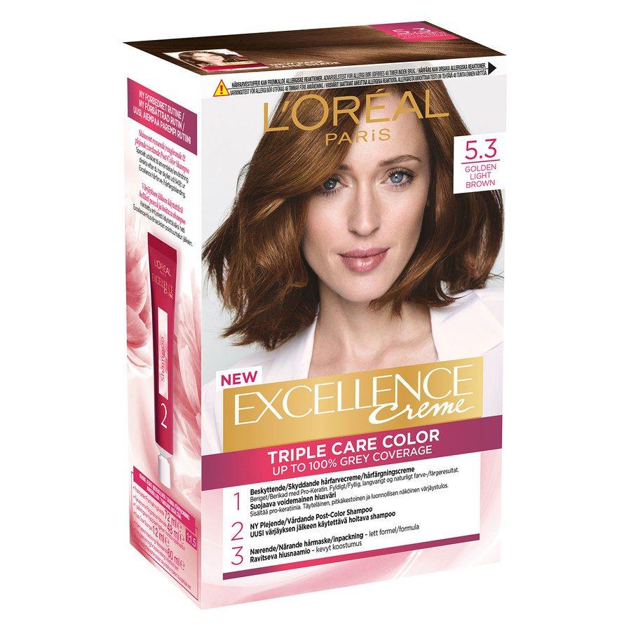 L'Oréal Paris Excellence Creme 5,3 Ljus Gyllenbrun