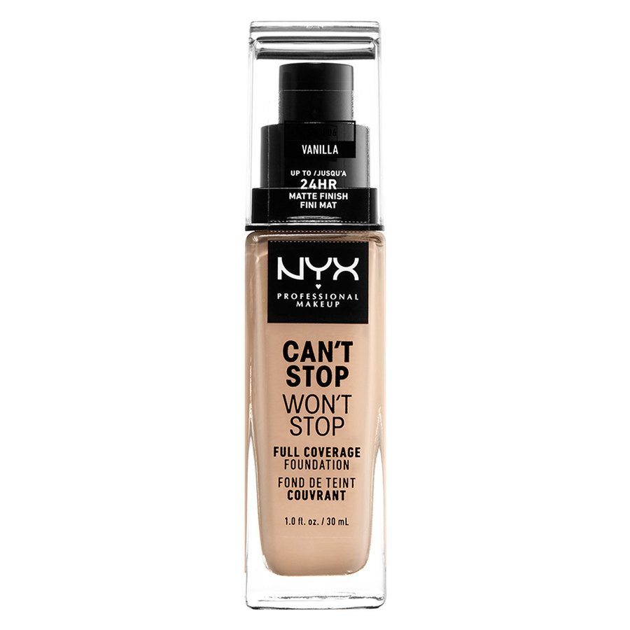 NYX Professional Makeup Can't Stop Won't Stop Full Coverage Foundation Vanilla 30 ml