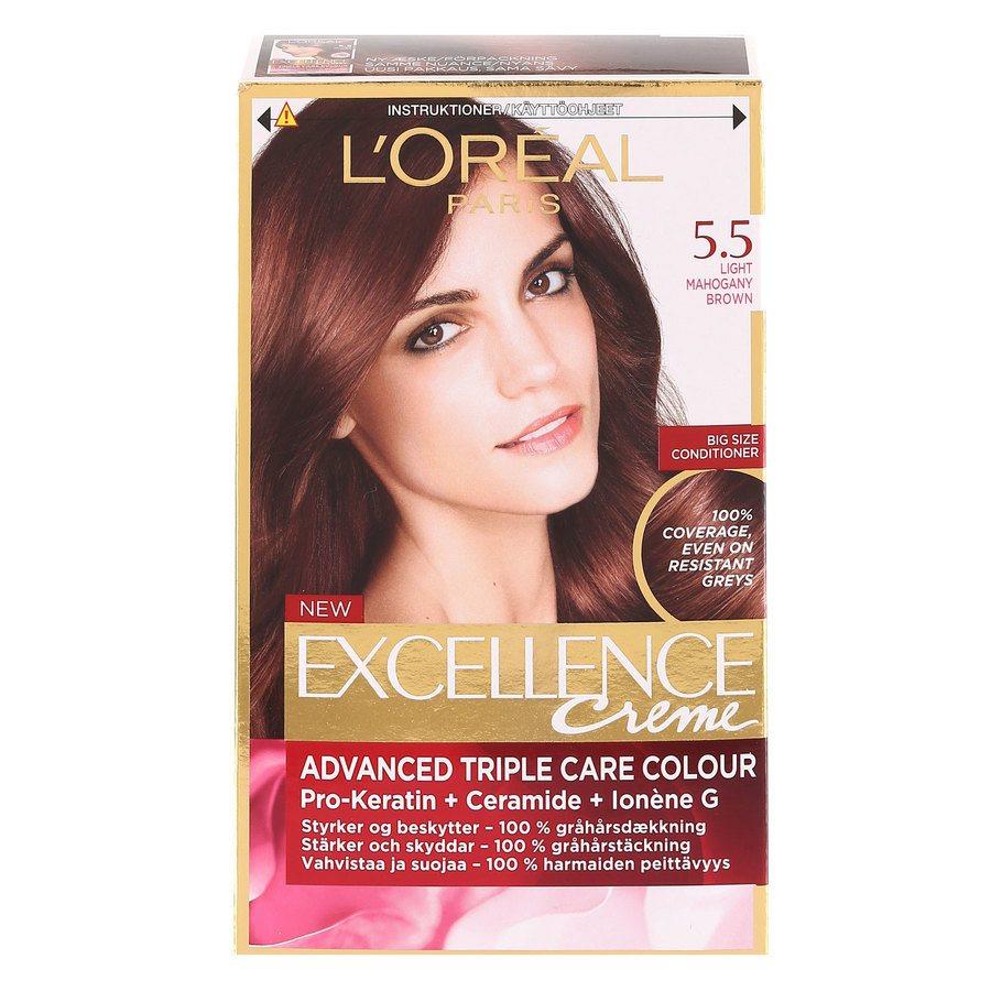 L'Oréal Paris Excellence Creme 5,5 Ljus Mahognybrun