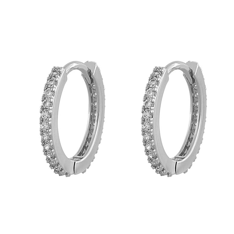 Snö Of Sweden Hanni Small Ring Earring Silver/Clear 16 mm