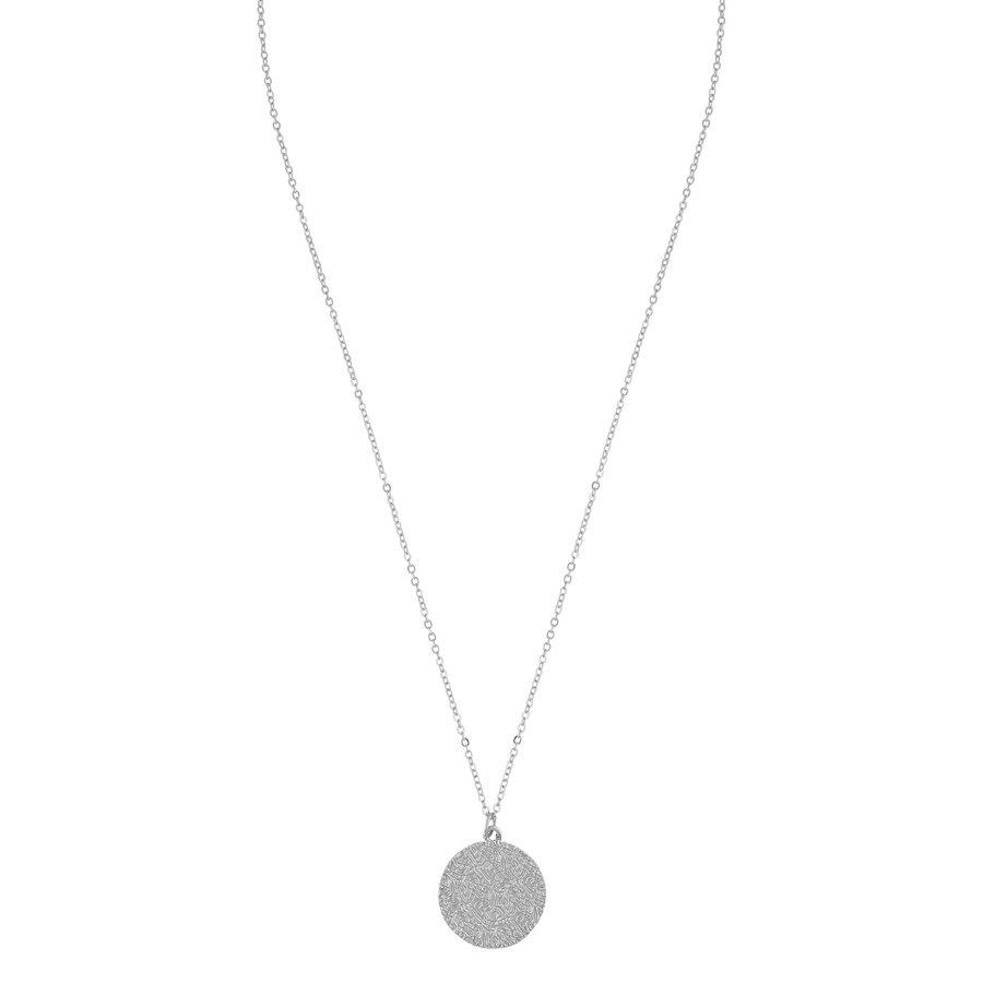 Snö of Sweden Penny Coin Pendant Necklace Plain Silver 42 cm