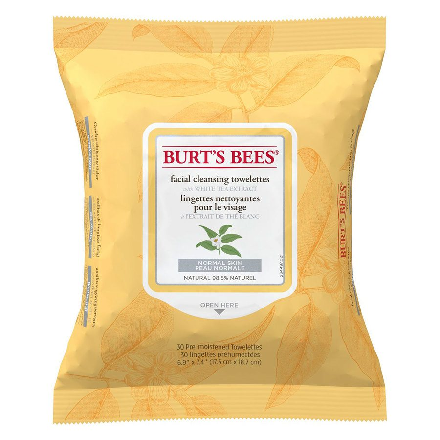 Burt's Bees Facial Cleans Towelettes White Tea Extract 30 st