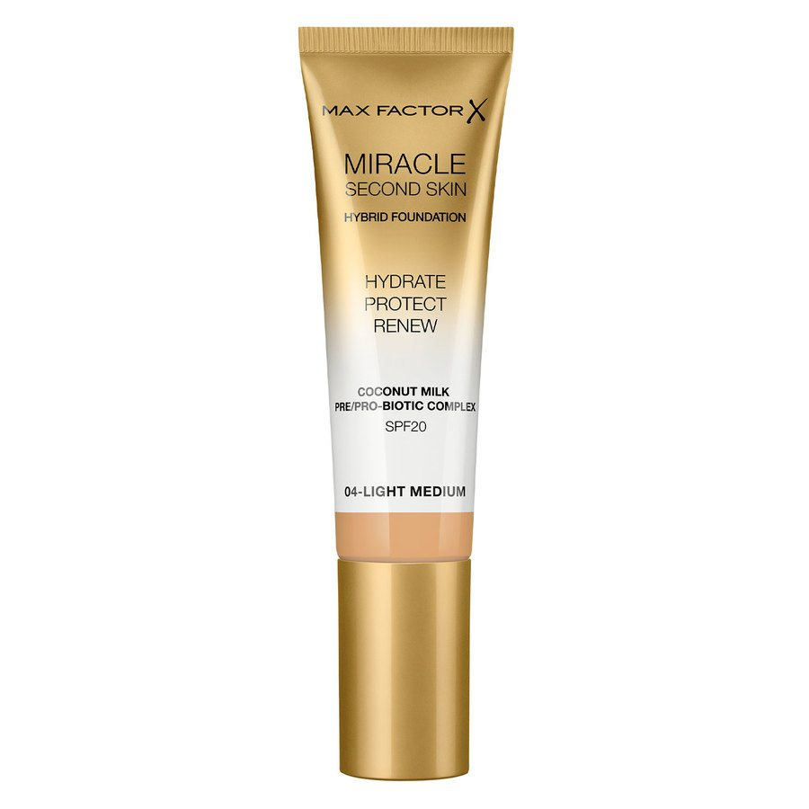 Max Factor Miracle Second Skin Foundation #004 Light Medium 33ml