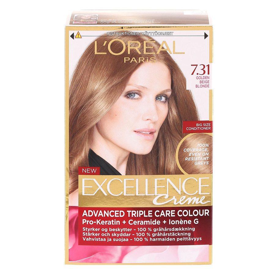 L'Oréal Paris Excellence Creme 7,31 Gyllene Beigeblond