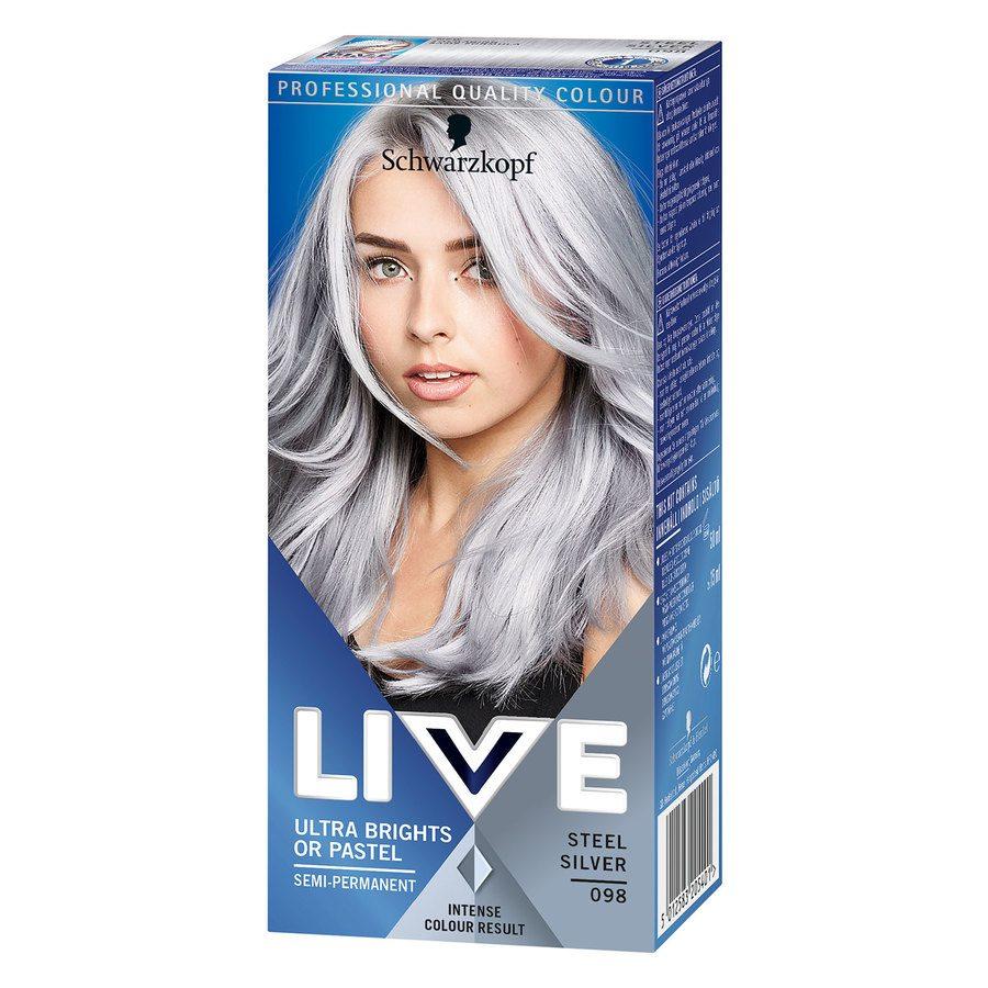 Schwarzkopf Live Ultra Bright #98 Steel Silver