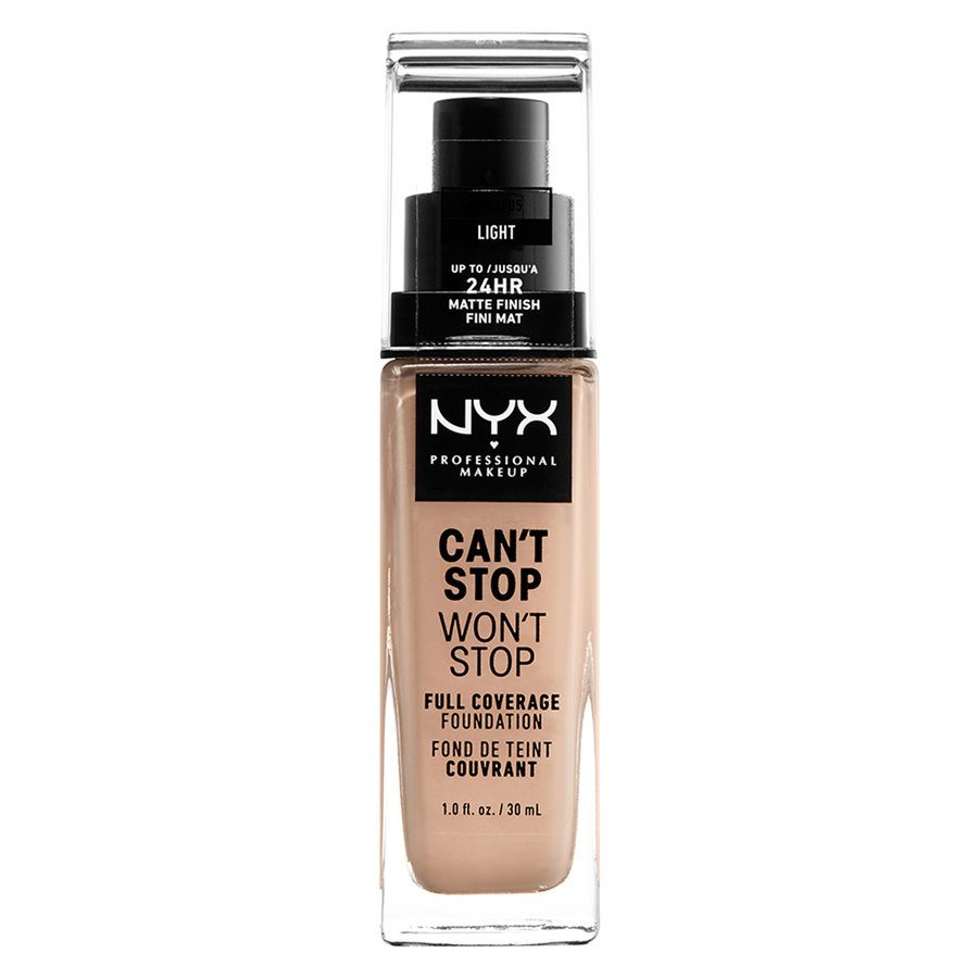 NYX Professional Makeup Can't Stop Won't Stop Full Coverage Foundation Light 30 ml
