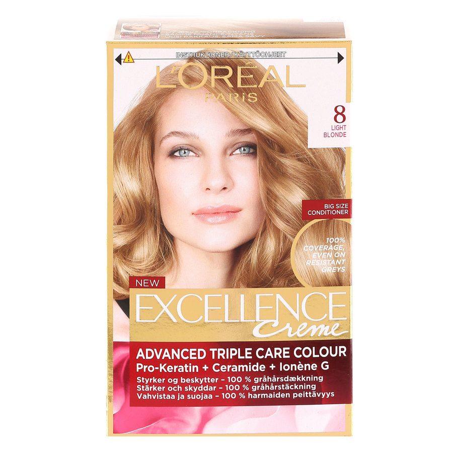 L'Oréal Paris Excellence Creme 8 Ljusblond