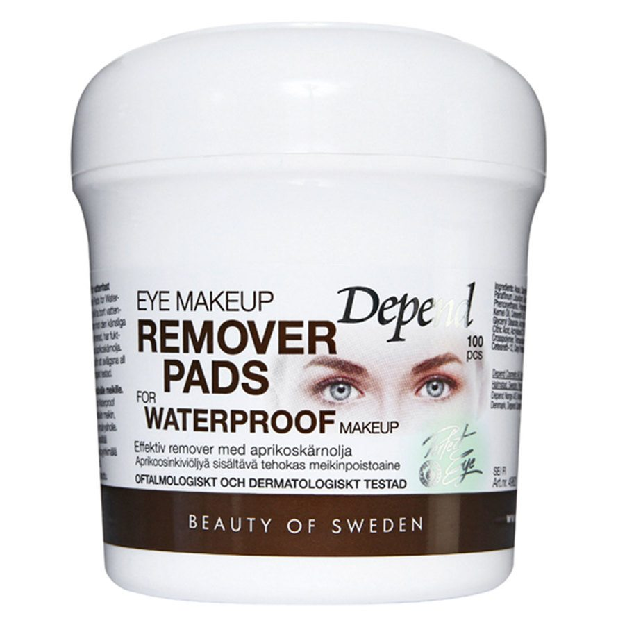 Depend Eye Makeup Remover Pads For Waterproof Makeup 100 st