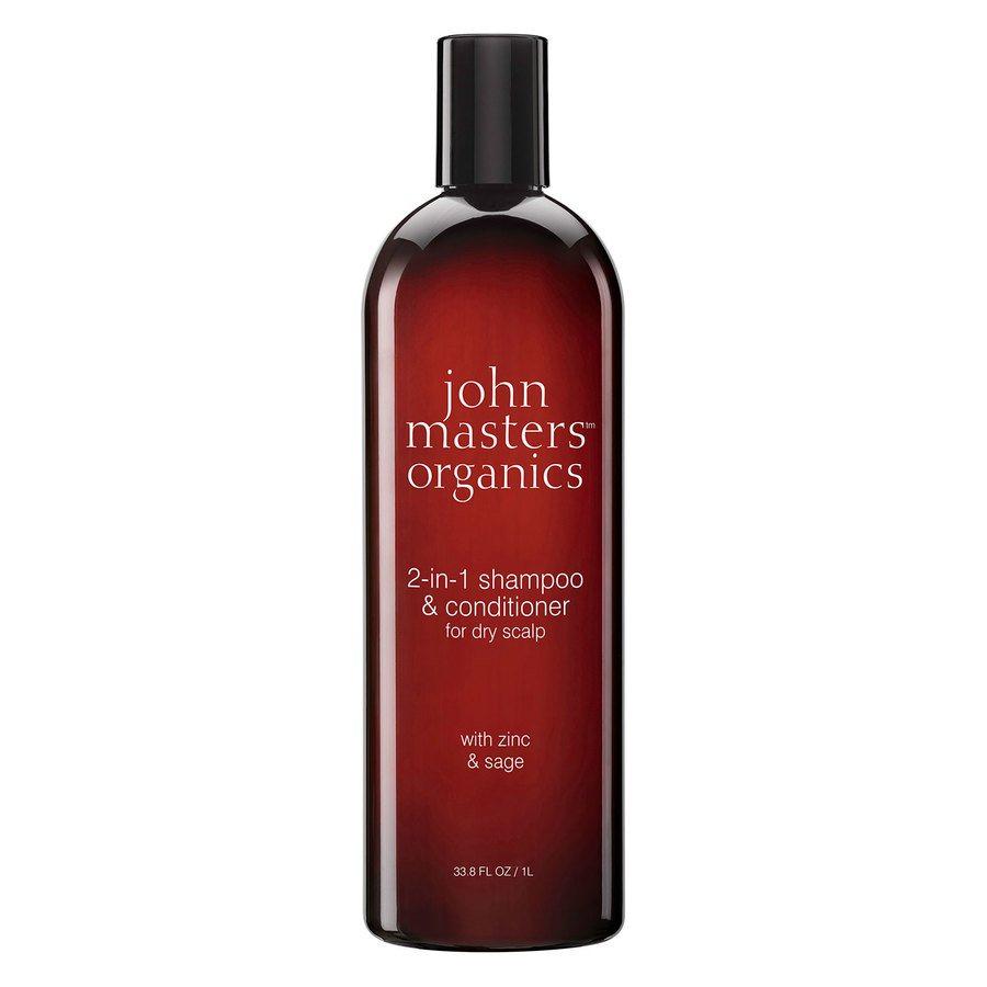 John Masters Organics Zinc & Sage Shampoo Med Balsam 1000ml