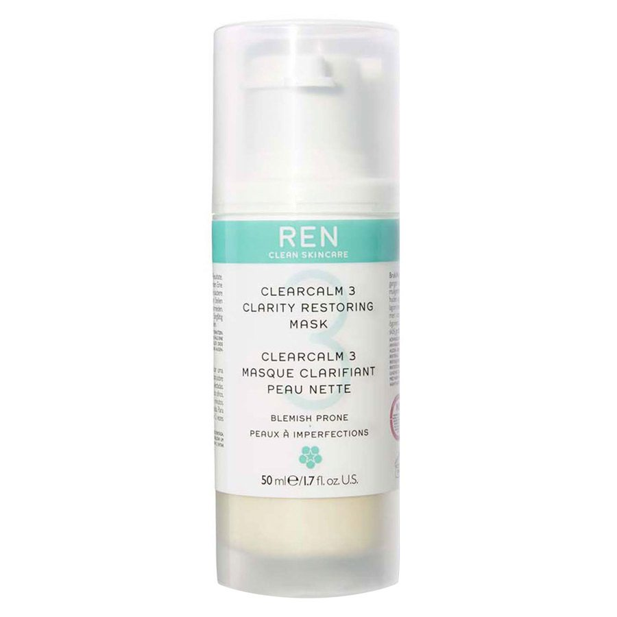 REN Clean Skincare Clearcalm 3 Clarity Restoring Mask 50ml