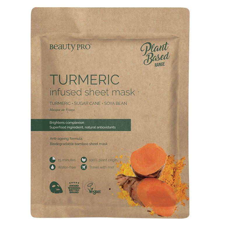 BeautyPro Plant Based Tumeric Infused Sheet Mask 22 ml