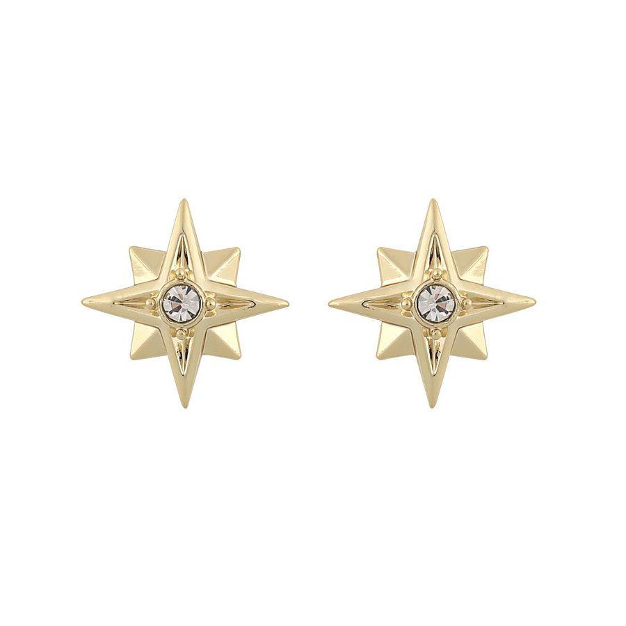Snö of Sweden Feliz Small Stone Earring Gold/Clear