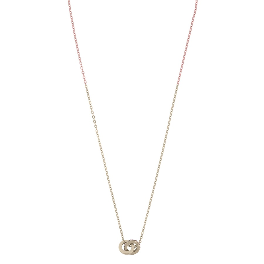 Snö of Sweden Connected Pendant Necklace Gold/Clear 42 cm