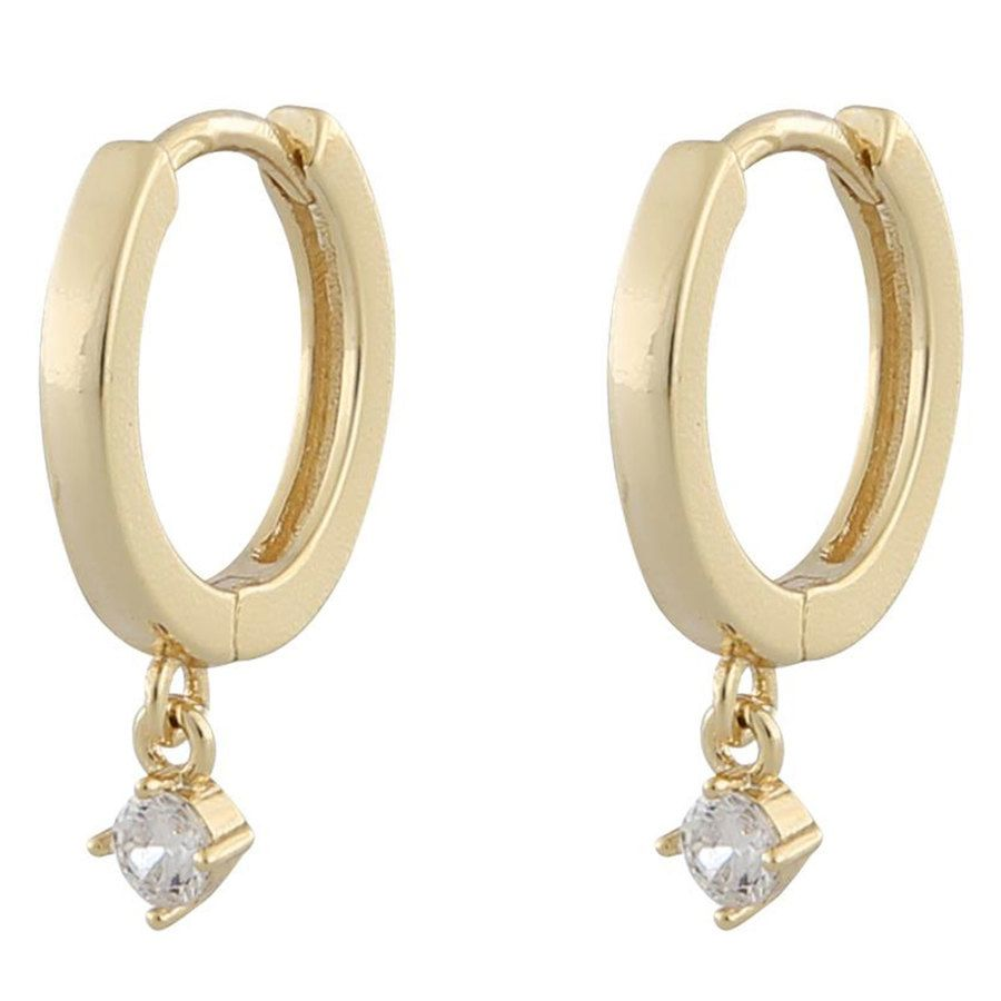 Snö of Sweden Camille Small Ring Earring Gold/Clear
