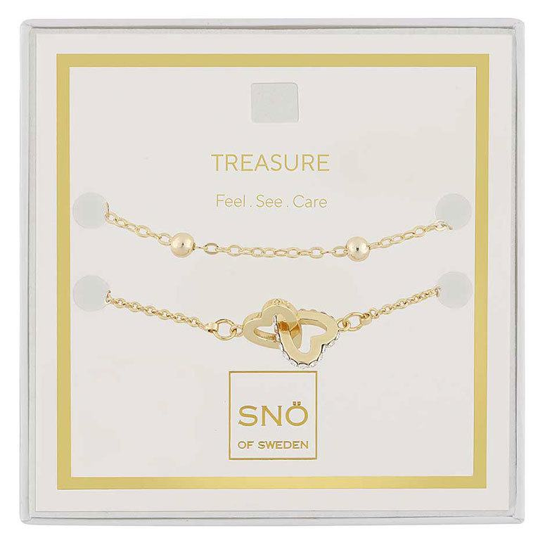 Snö of Sweden Valentine Treasure armbandsset Gold/Clear
