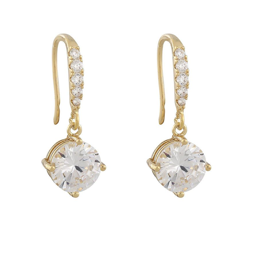 Snö of Sweden Luire Stone Pendant Earring Gold/Clear