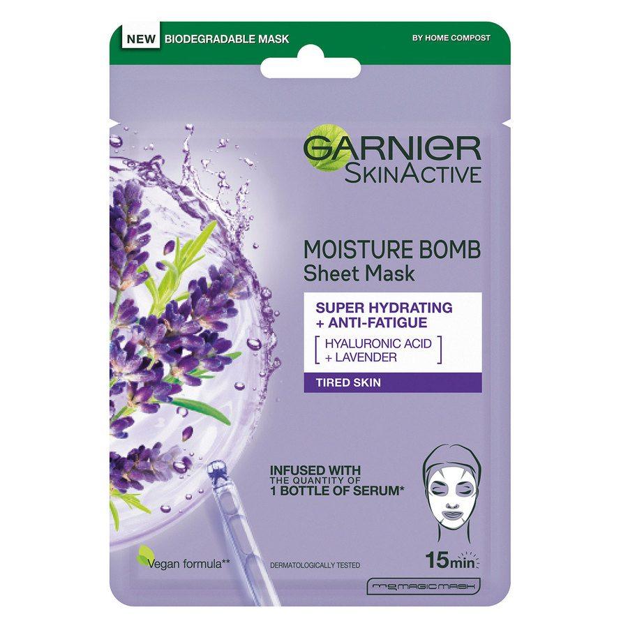 Garnier SkinActive MoistureBomb Tissue Mask Lavendel 28 g