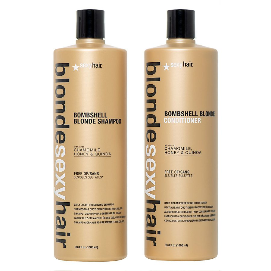 Blonde Sexy Hair Shampoo 1000 ml och Conditioner 2 x 1000 ml (duo)