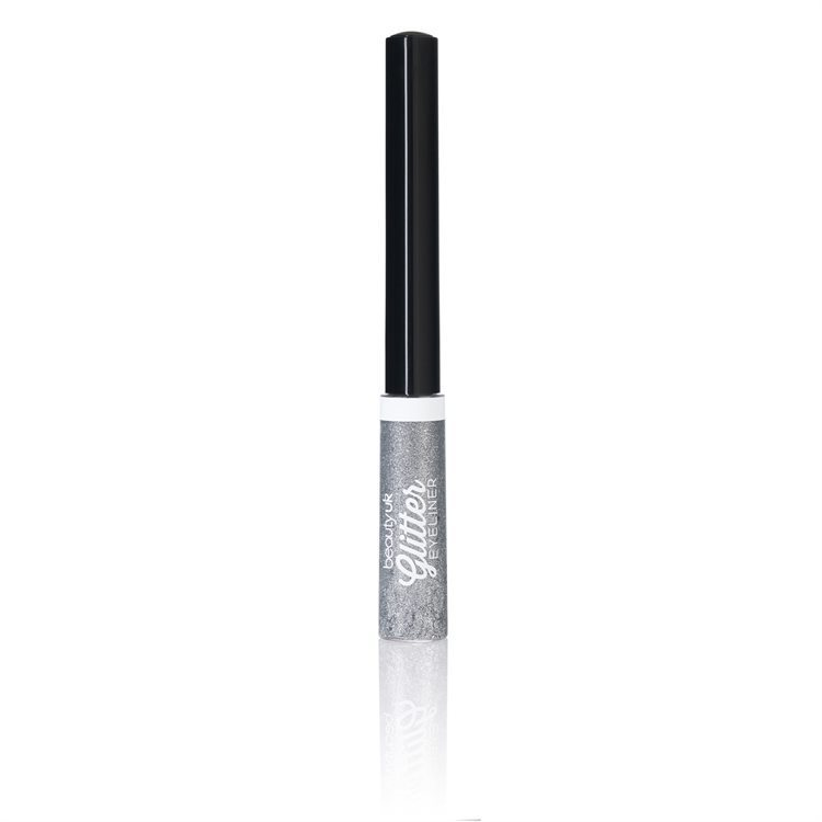 Beauty UK Glitter Liquid Eyeliner No.1 Silver