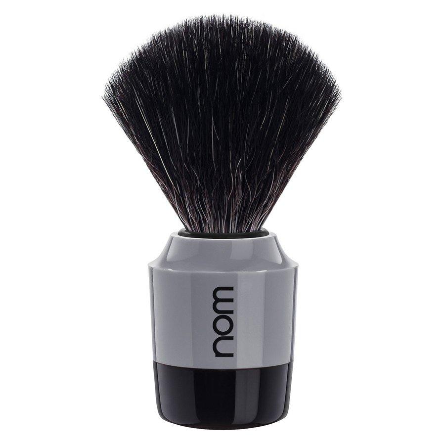 Nom Marten Shaving Brush Black Fibre Black Grey