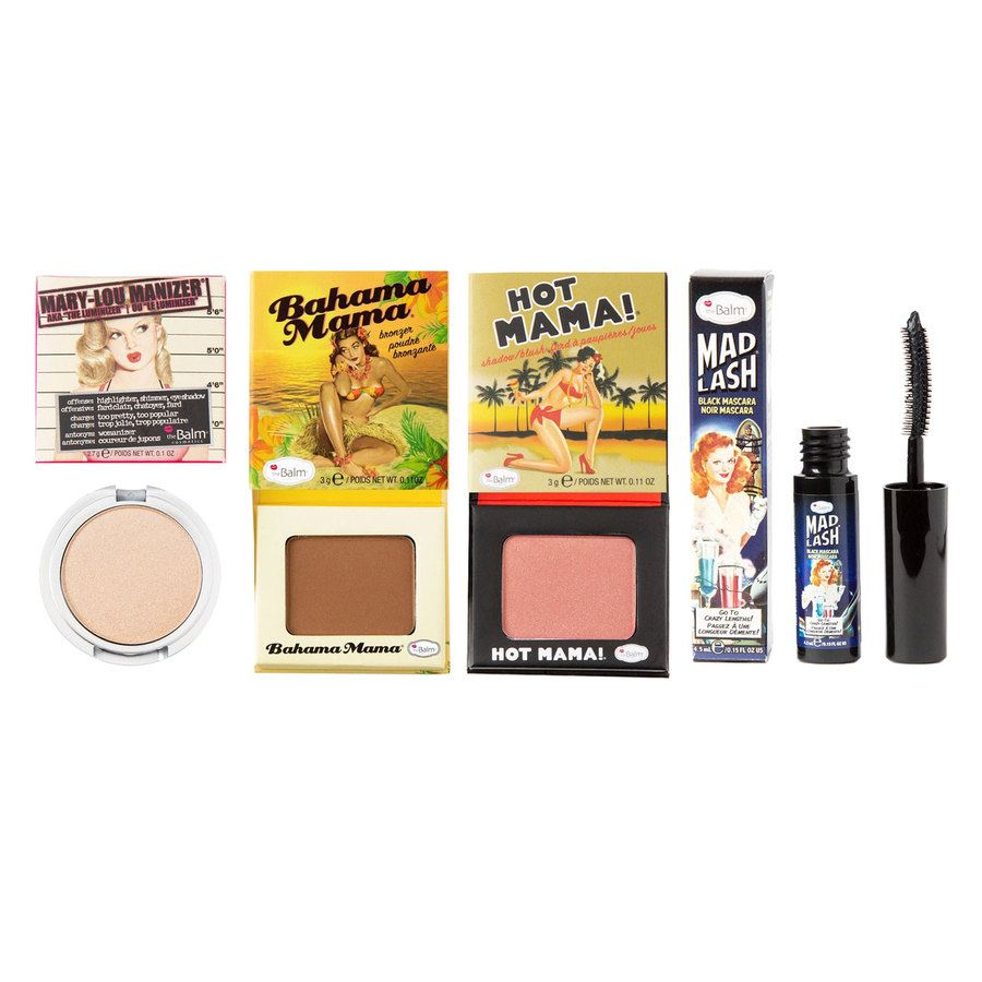 The Balm Travel Set With Cosmetics Bag 4 st.