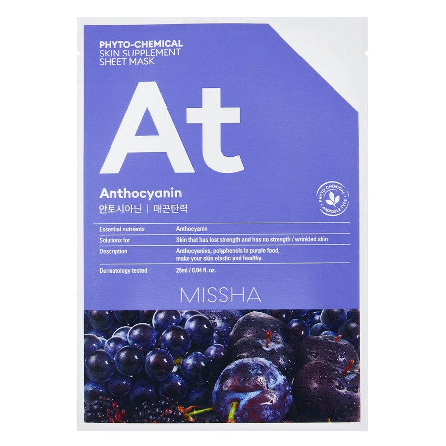 Missha Phytochemical Skin Supplement Sheet Mask Anthocyanin 25 ml